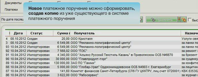 Платежные поручения